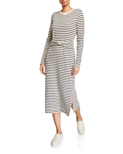 The Studio Striped Long-Sleeve Dress