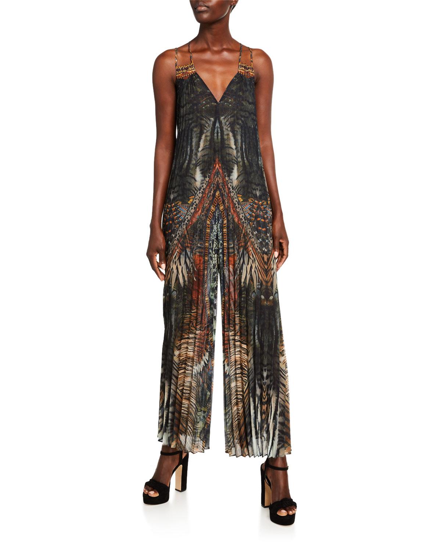 Camilla Suits PLEATED PATCHWORK JUMPSUIT