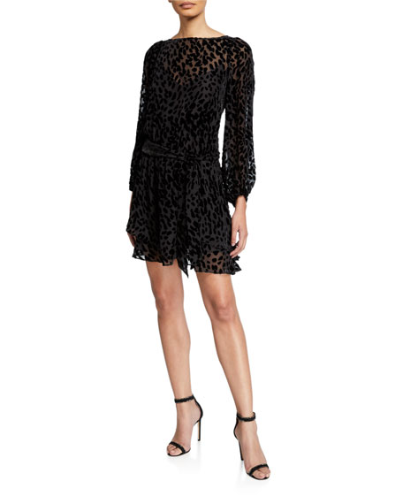 Tanya Taylor Sarina Leopard Burnout Dress