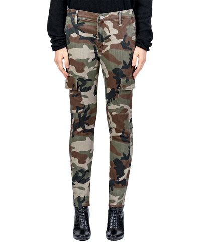 Caille Skinny Camo-Print Cargo Pants
