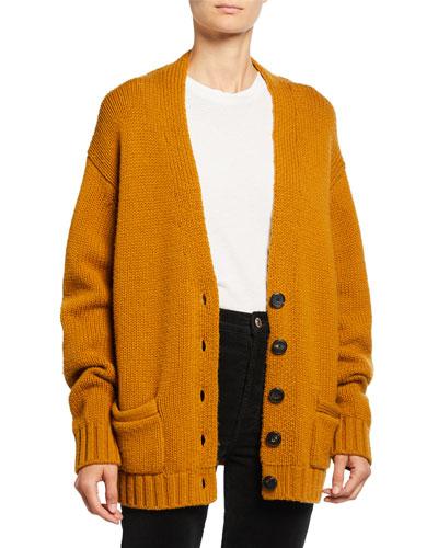 90s Wool-Cashmere Cardigan