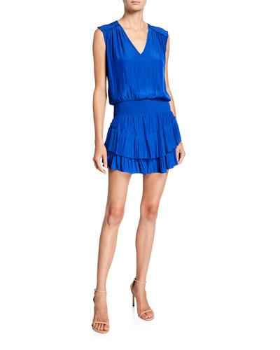 Bernice Sleeveless Tiered Short Dress