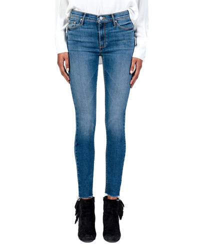 Carmen High-Rise Ankle Fray Jeans