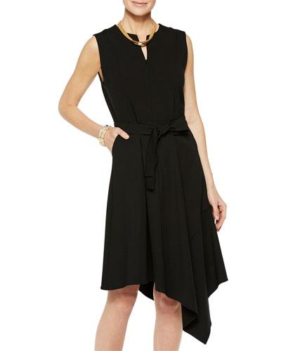 Sleeveless Asymmetrical Ponte Dress