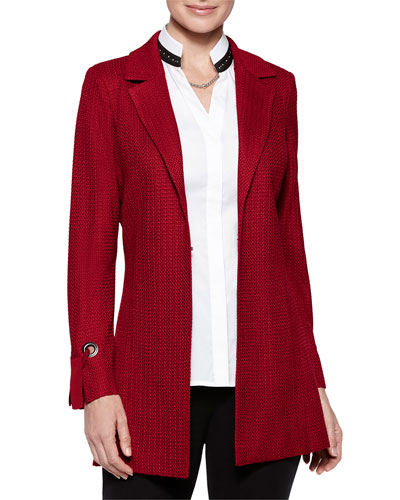 Plus Size Grommet and Tie-Cuff Jacket