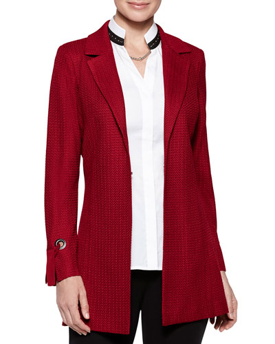Grommet Tie-Cuff Jacket