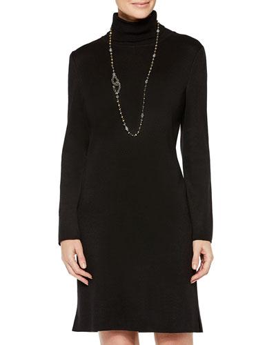 Long-Sleeve Turtleneck Dress