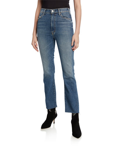The Hustler Ankle Fray Straight-Leg Jeans