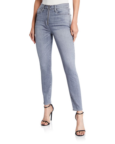 Good High-Rise Zip-Front Jeans