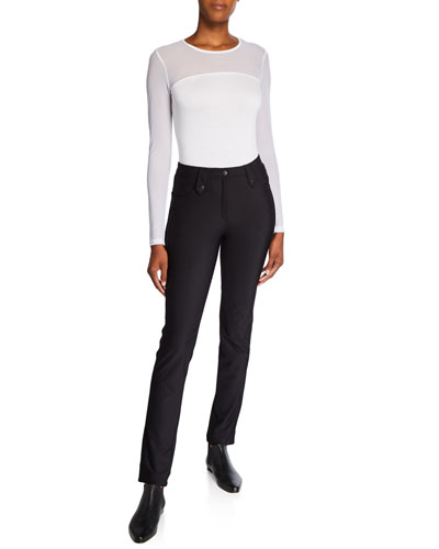 Skyler Cozy Slim High-Rise Pants