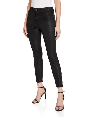 Sabine High-Rise Skinny Jeans with Zipper