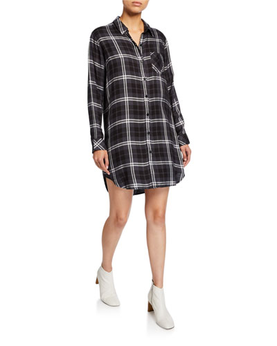 Bianca Plaid Shirtdress