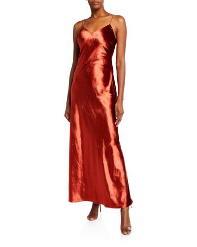 Mara V-Neck Long Slip Dress