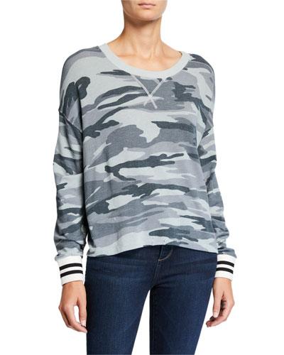 Super Soft Camo Pullover Sweatshirt