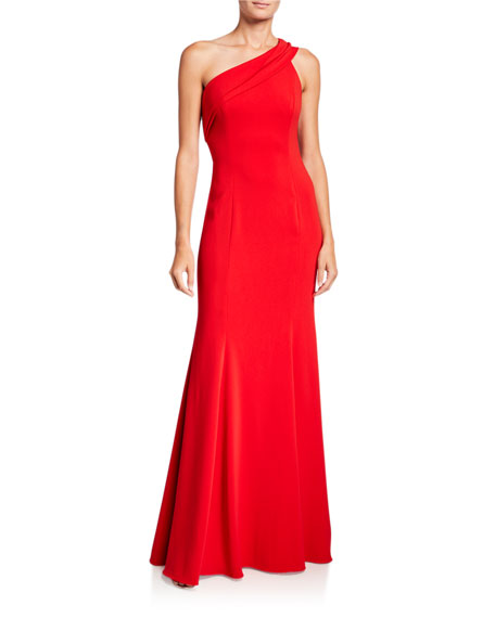 Jay Godfrey Stone One-Shoulder Column Gown