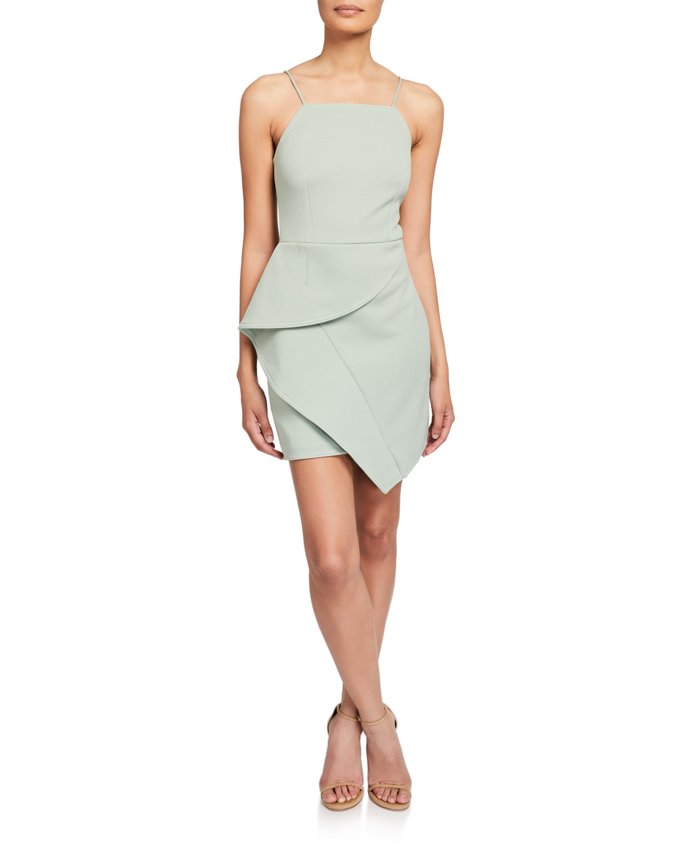 Elliatt Dresses AFFAGATO SLEEVELESS ASYMMETRIC DRAPE MINI DRESS