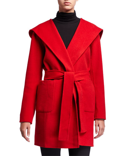 Shea Wool Coat with Hood