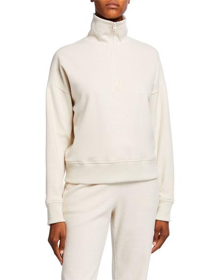 Vince Cozy Half-Zip Pullover Sweatshirt