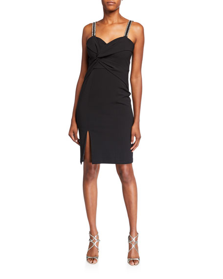 Parker Black Lazarro Sweetheart Bodycon Dress
