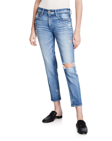 MOUSSY VINTAGE Helendale Distressed Light-Wash Skinny Jeans