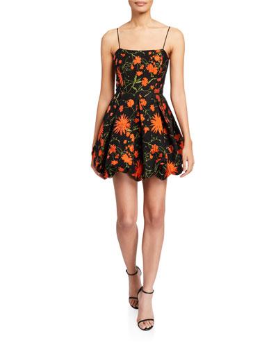 Maureen Floral Sleeveless Balloon Skirt Fit-&-Flare Dress