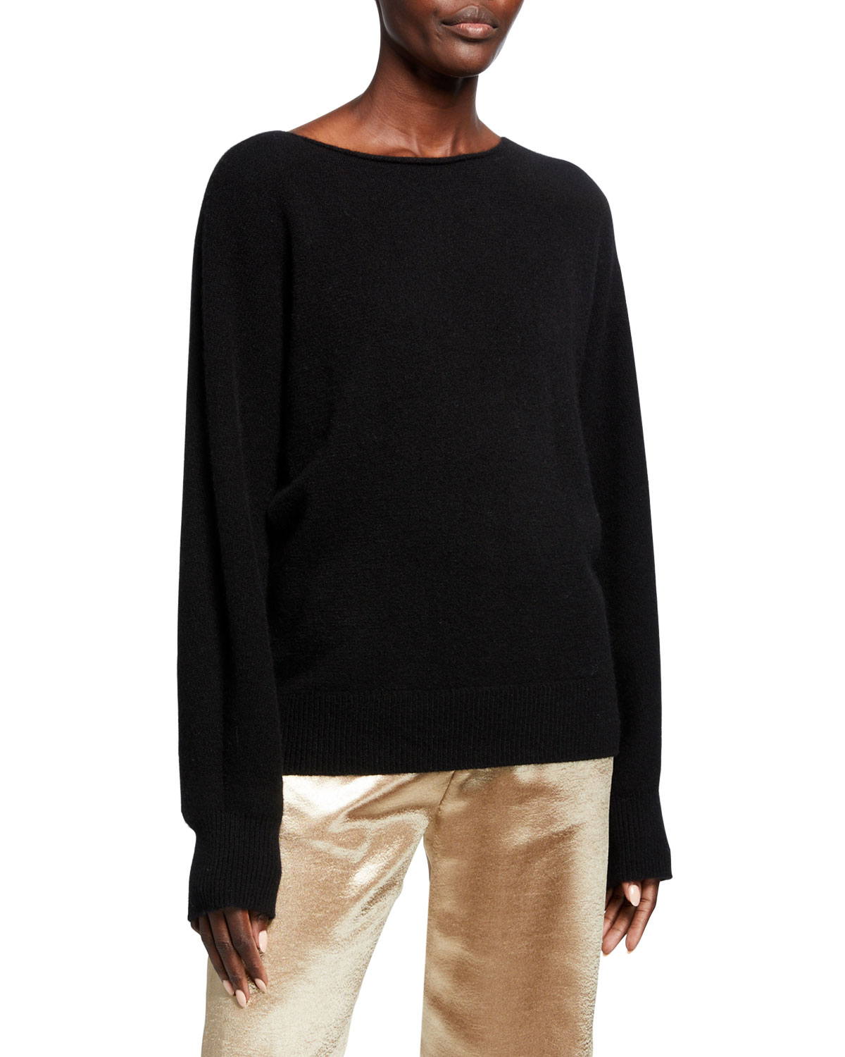 Vince Sweaters CASHMERE BOAT NECK DOLMAN SWEATER
