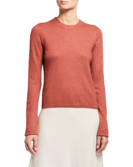 Vince Fitted Crewneck Cashmere Sweater