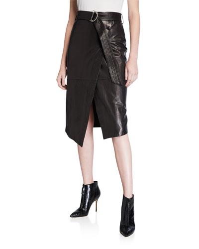 Julianna Leather Skirt