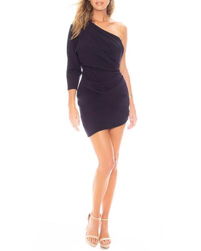 Baby Blouse Asymmetric Mini Dress with Back Cutout