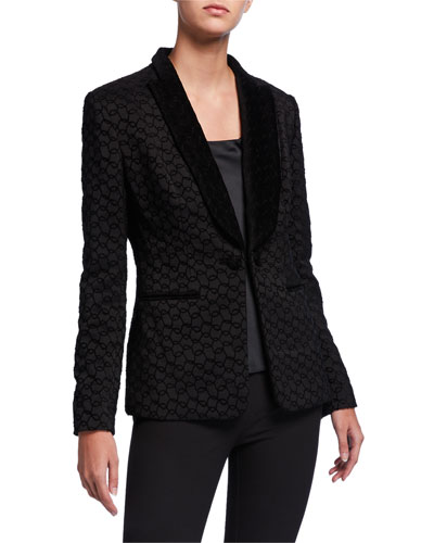 Lorela Circular Shawl-Collar Jacket