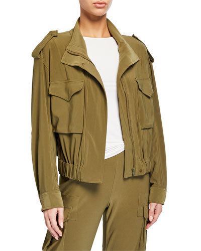 Cropped Turtle Cargo Jacket