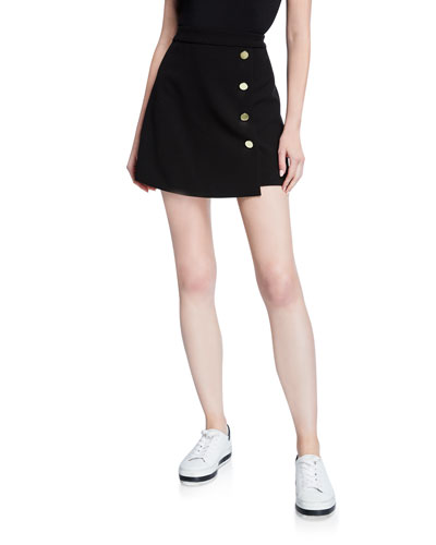 Sherilyn Wrapped Button-Front Skirt