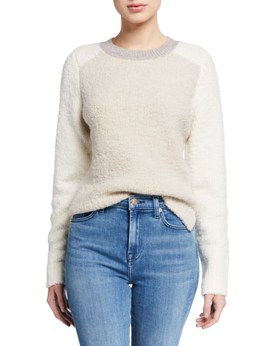 Davis Colorblock Crewneck Wool Sweater