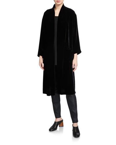 Velvet Kimono Long Jacket