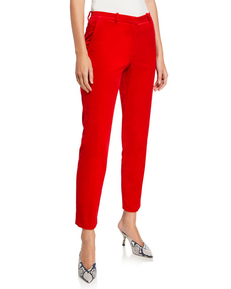 Theory Stretch Velvet Tailored Trousers