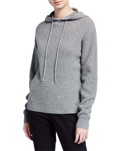 Hooded Cashmere Pullover Sweater