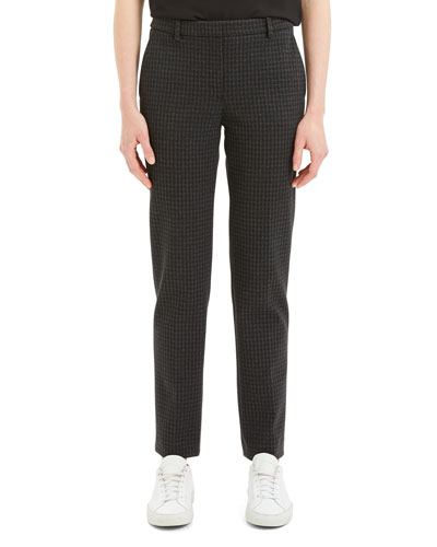 Knit Twill Houndstooth Trouser Pants