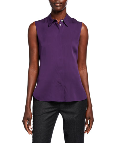 Fitted Core St. Silk Sleeveless Top