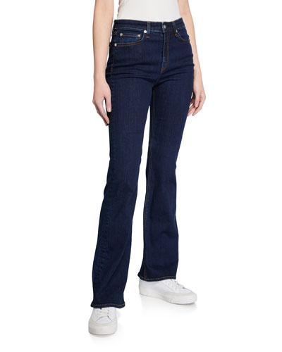 Nina High-Rise Boot-Cut Denim Jeans