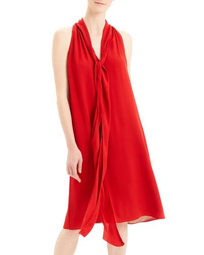 Georgette Halter Scarf Dress