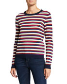 Autumn Cashmere Multi-Stripe Crewneck Sweater
