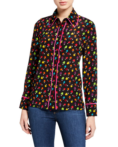 Alfie Collared Button-Down Top