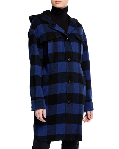 Beck Plaid Long Coat