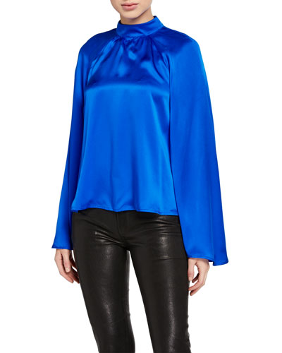 Tennessee Long-Sleeve Silk Top