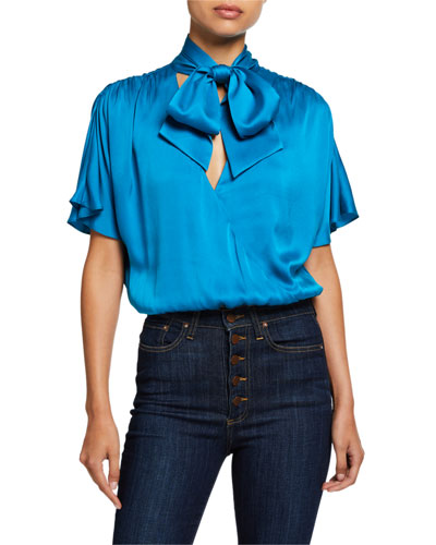 Livvy Tie-Neck Wrap Top