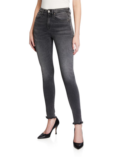 Nina Faded High-Rise Skinny Ankle Jeans