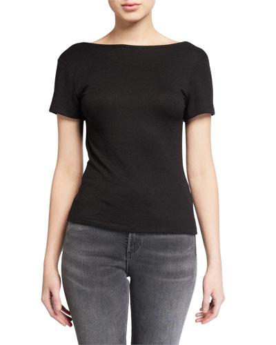 Short-Sleeve Wrap Top