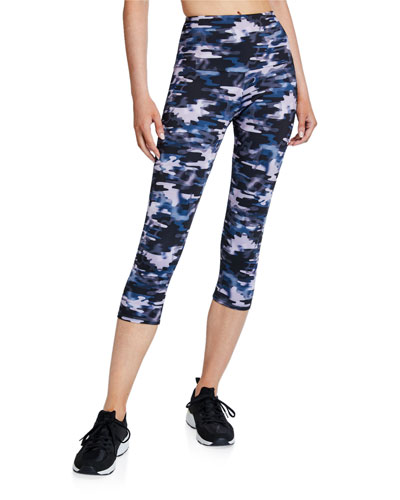 High Rise Capri Pants, Stormy Camo