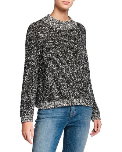 Petite Peruvian Cotton Boucle Sweater