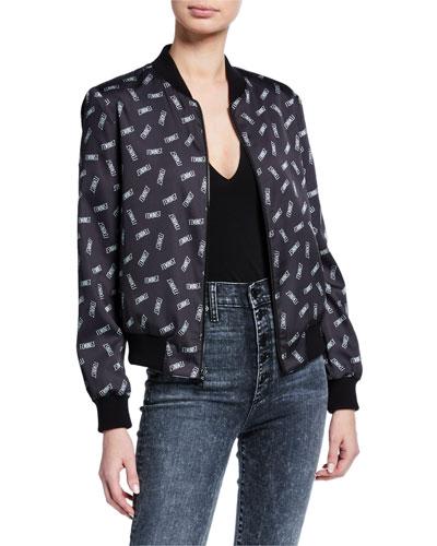 Lonnie Reversible Feminist/Zebra Bomber Jacket